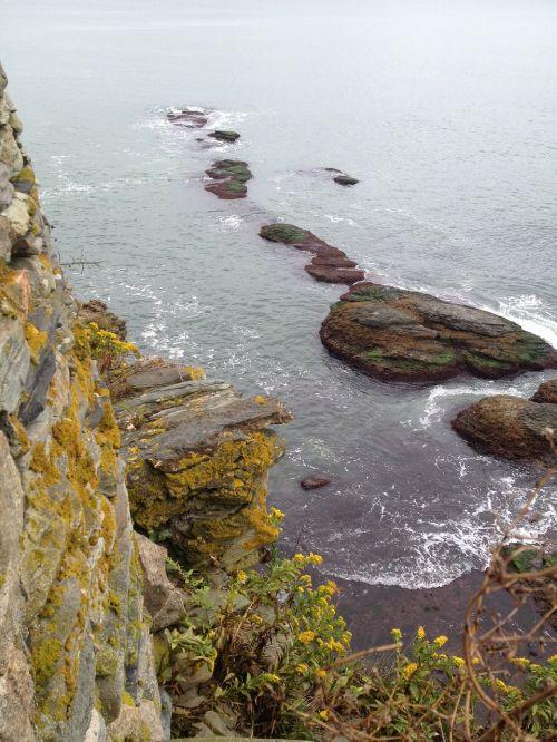 cliff rocks coast