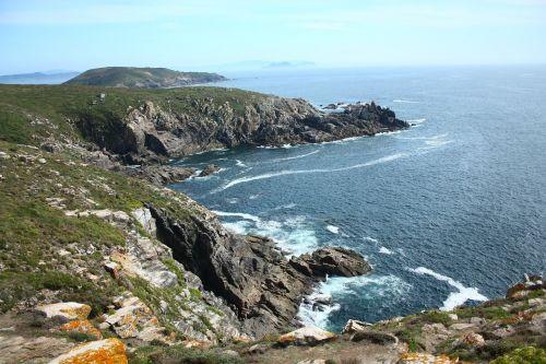 cliffs galicia beach