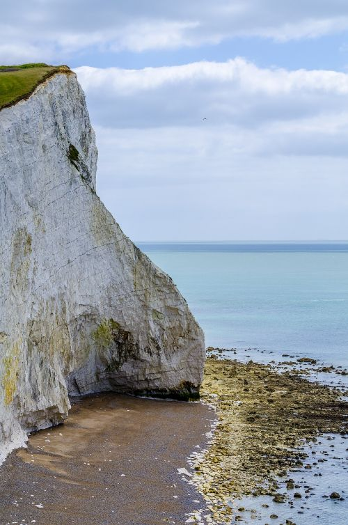 cliffs white cliffs sea