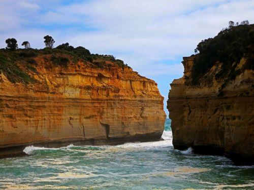 cliffs rough wild