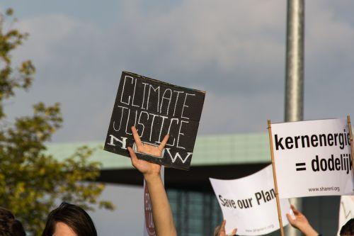 climate protest demo