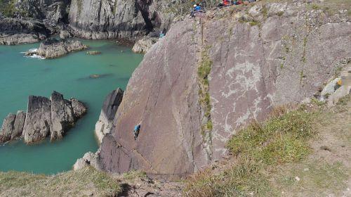 climb cliffs sea