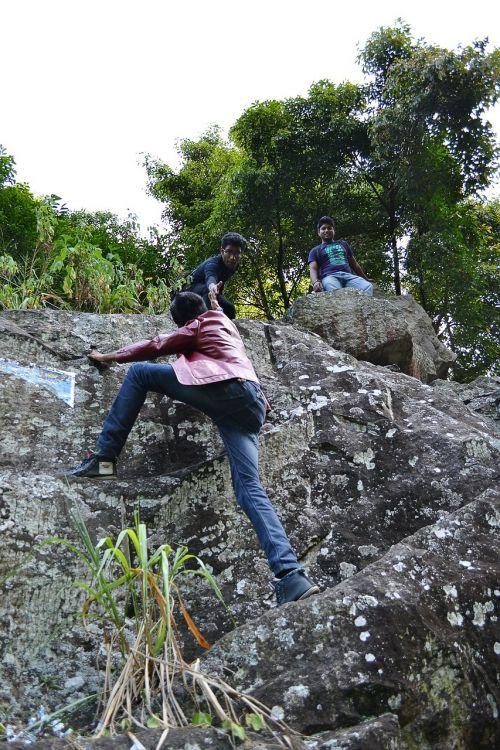 climb rock hard