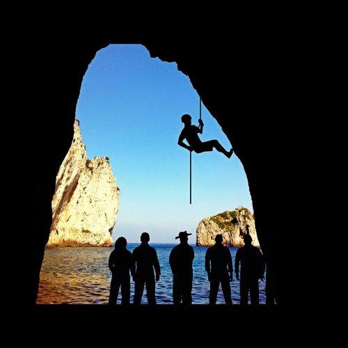 climb climbing sport abseil