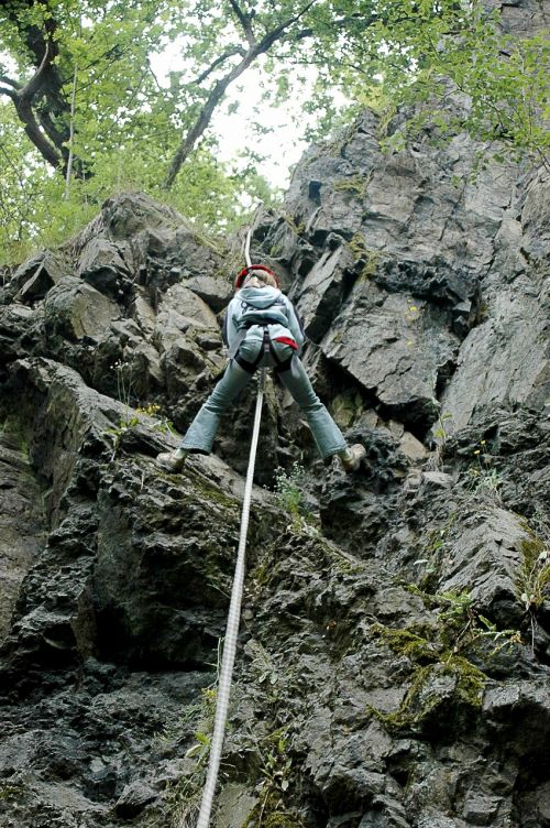climb abseil mountain