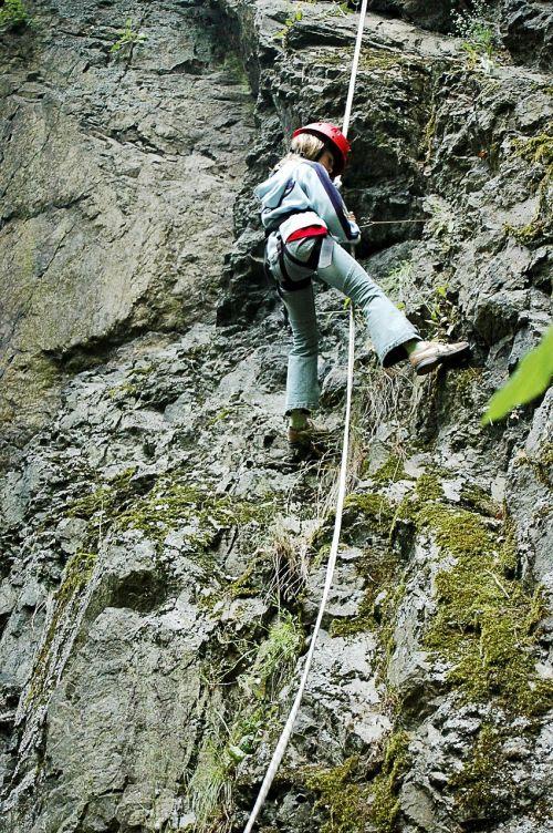 climb abseil climbing