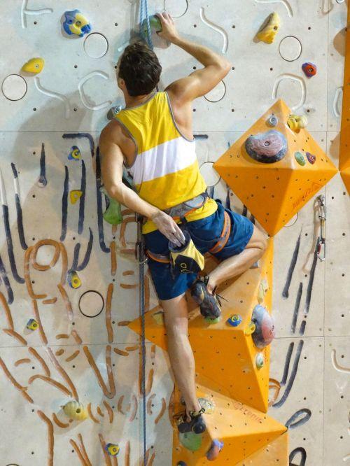 climb climbing rope climber
