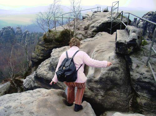 climb mountain elbe sandstone mountains rise
