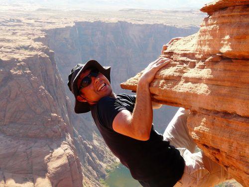 climber rock human