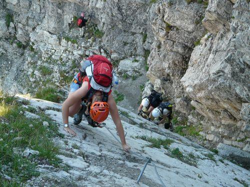 climber steep descent
