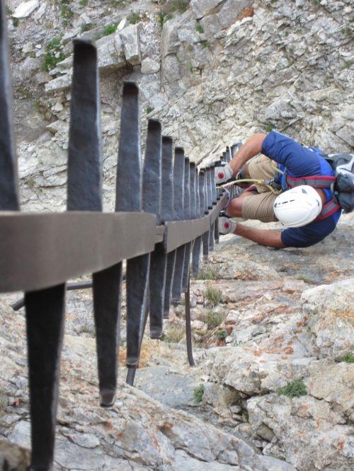 climbing mountain rock