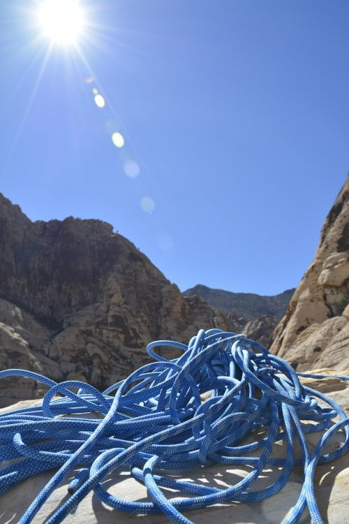 climbing rope summit