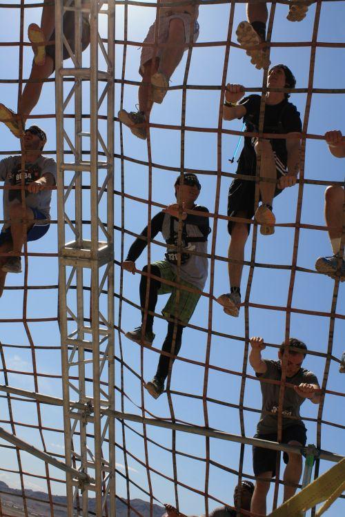climbing cargo net challenge