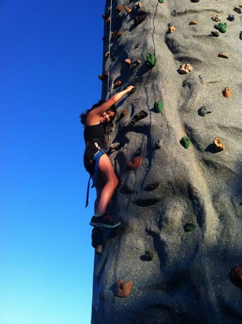 climbing rock climbing girl