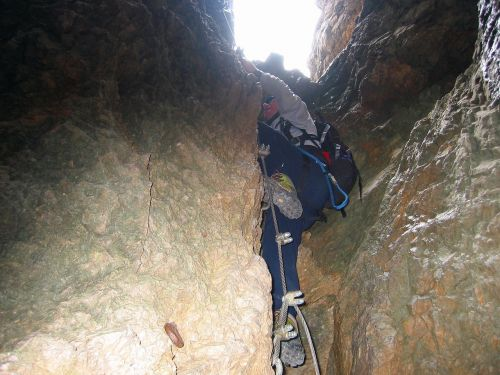 climbing mountaineer brother tunnel