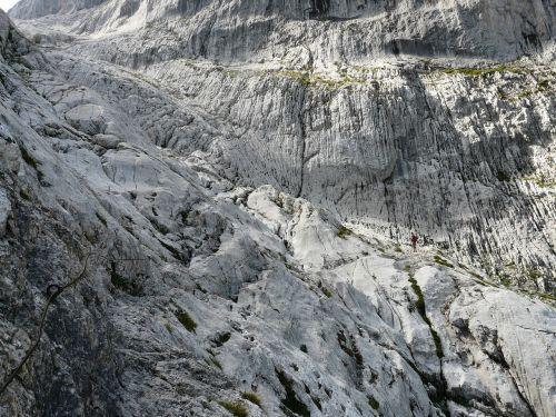 climbing rock hike