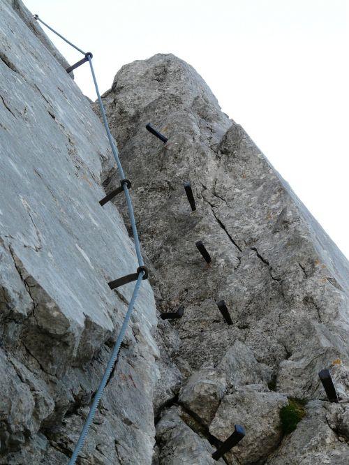 climbing crux gamsängersteig