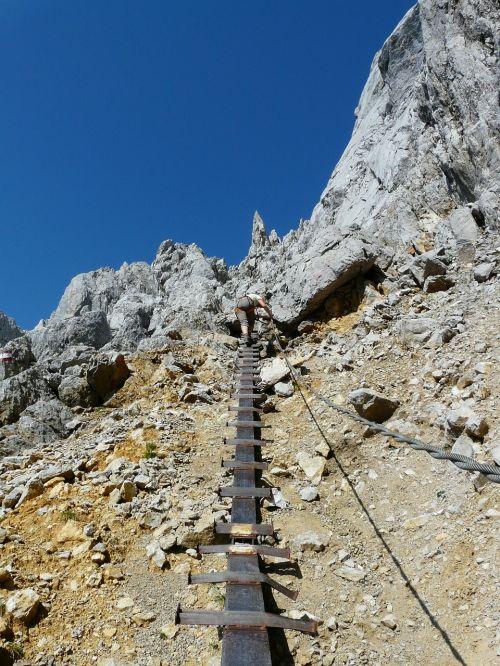 climbing climber gamsängersteig