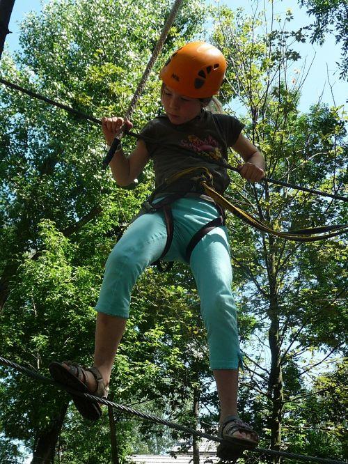climbing garden high ropes course ropes course
