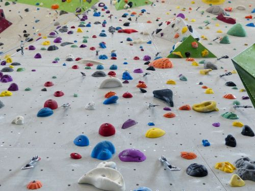 climbing holds colorful color