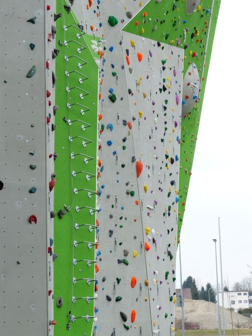 climbing wall outdoor climbing hall