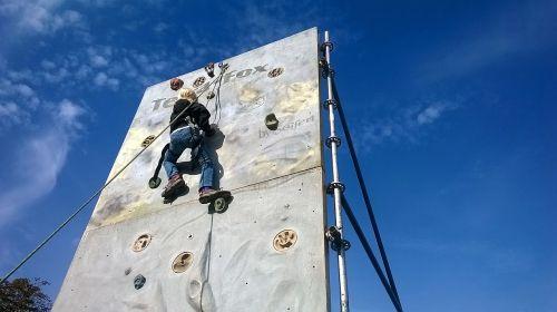 climbing wall climb artificial