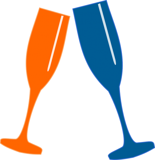 clink glasses cheers celebration
