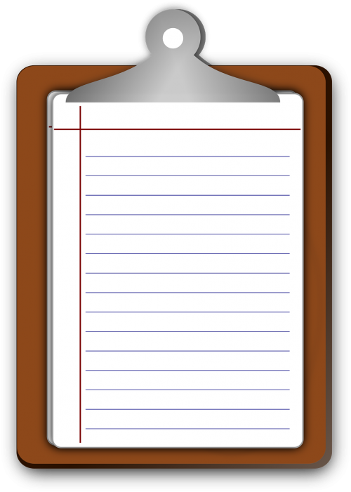 clipboard paper lined