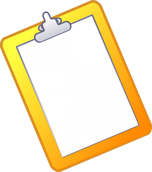 clipboard document paper