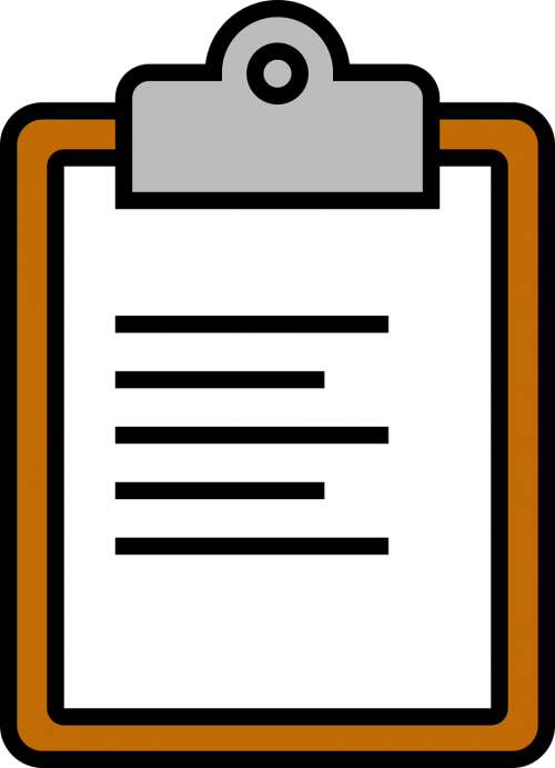 icon clipboard paperclip