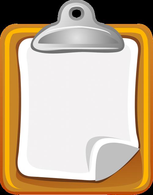 clipboard paper holder