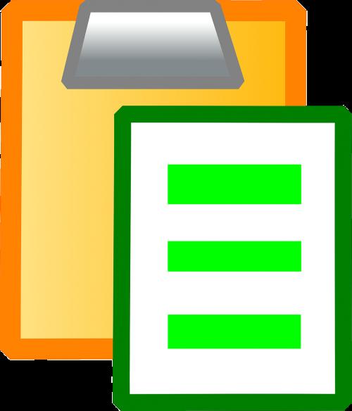 clipboard paper office