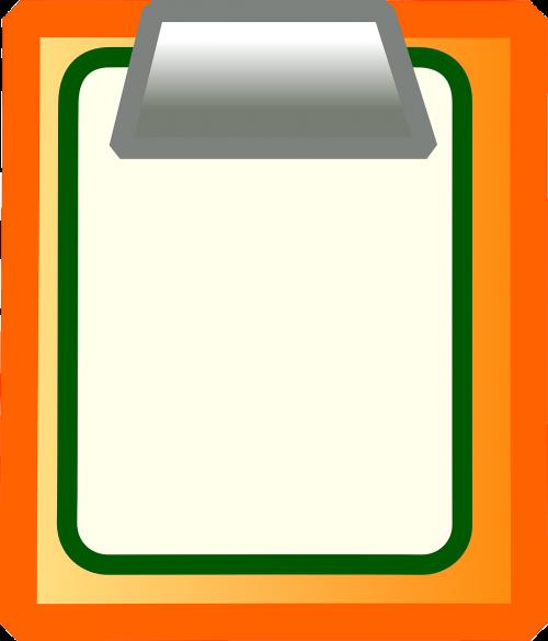 clipboard business orange
