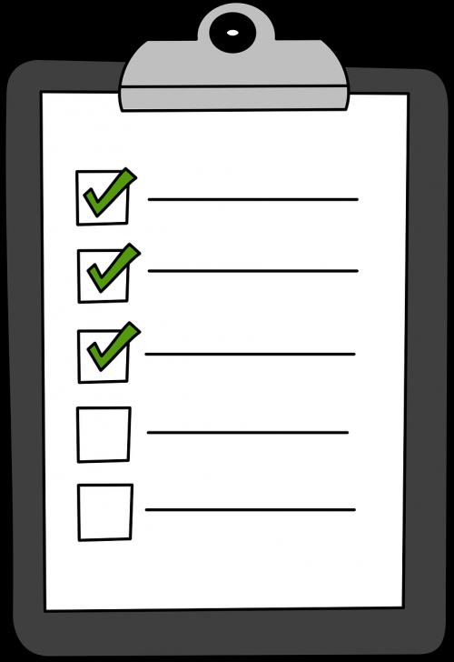 clipboard green check