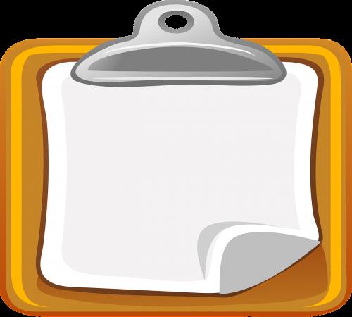 clipboard chart document