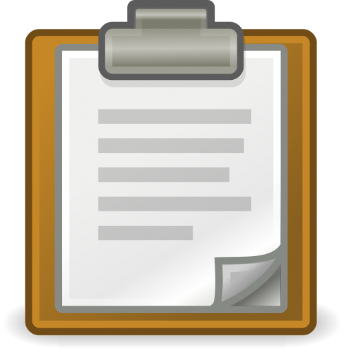 clipboard clip document