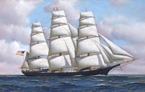 Clipper Ship At Full Sail