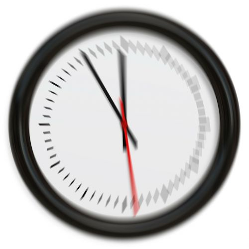 clock pointer blurry