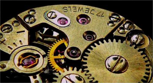 clock movement gears