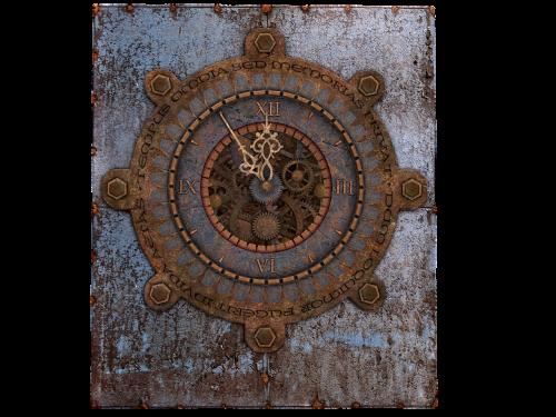 clock old clock steampunk