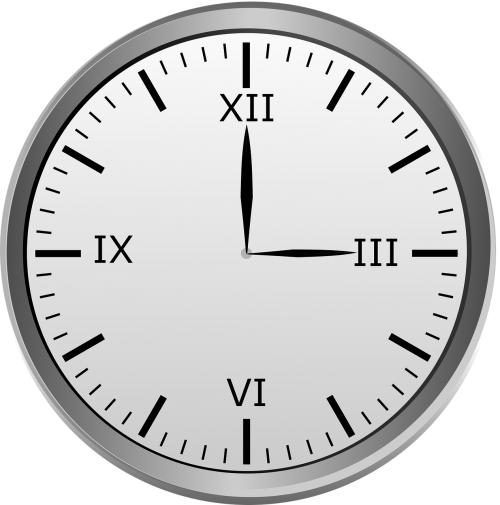 clock roman roman numerals