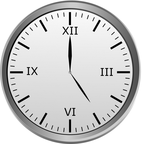 clock roman numerals time of