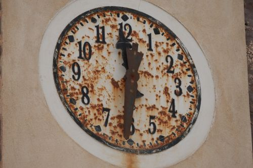 clock bell tower rusty