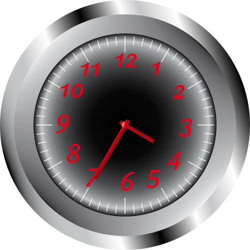 clock time metal