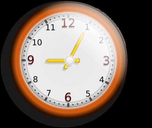 clock hour minute