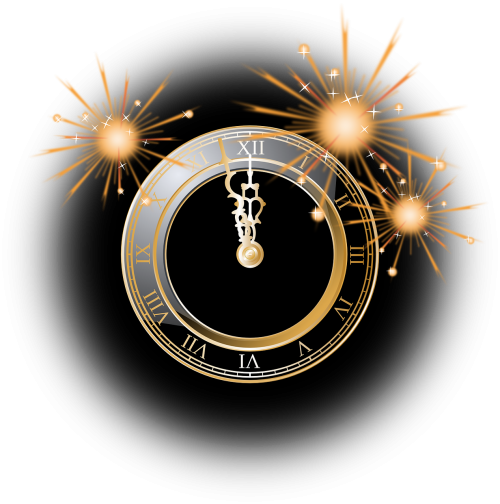 clock firework silvester