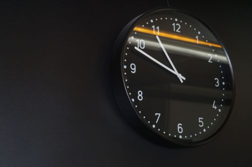 clock time of time indicating