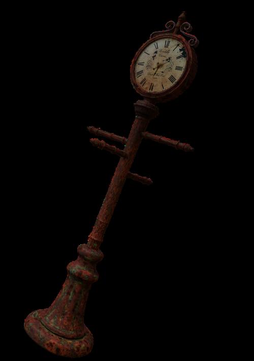 clock strassenuhr timepiece