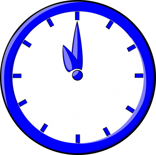 clock time blue