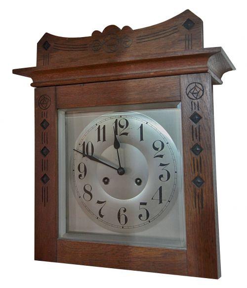 clock oak dial